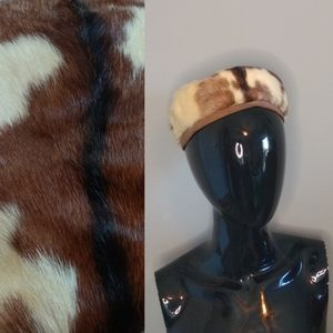 Vintage Mid Century Fur Pillbox Hat